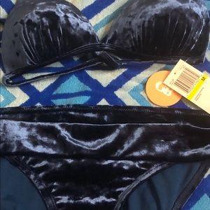 NWT GB Gianni Navy Blue 2 piece Bikini Set M/L